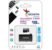 ADATA Premier 16GB UHS-I U1 Class 10 50MBps microSDHC with OTG microReader